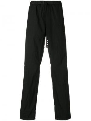 Straight leg parachute trousers Off-White. Цвет: черный