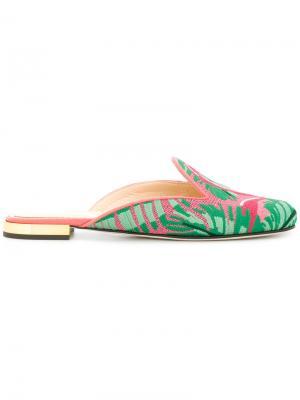 Мюли Flamingo Charlotte Olympia. Цвет: разноцветный