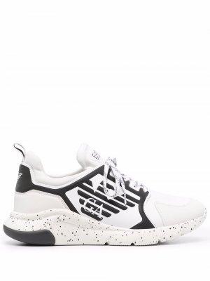 Logo-print chunky sneakers Ea7 Emporio Armani. Цвет: белый