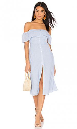 Платье jeanne BB Dakota. Цвет: синий