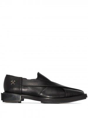 Chappal faux-leather loafers GmbH. Цвет: черный