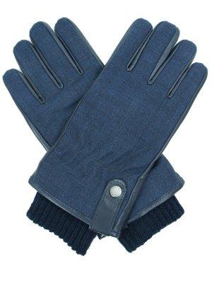Перчатки комбинированные Paul&Shark. Цвет: синий