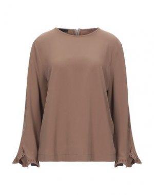 Блузка BLACK LABEL. Цвет: коричневый