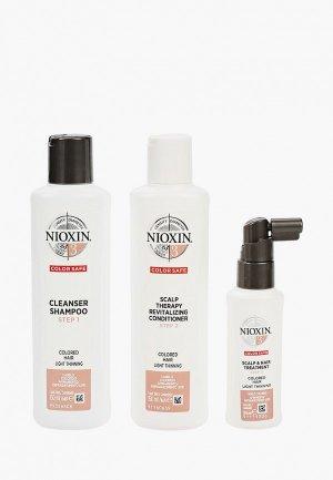 Набор для ухода за волосами Nioxin система 3: шампунь (150 мл), кондиционер маска (40 мл). Цвет: прозрачный