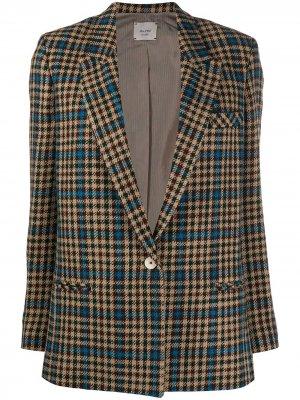 Пиджак в клетку Alysi. Цвет: нейтральные цвета