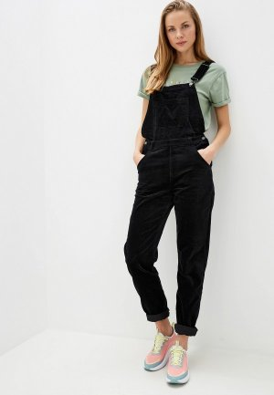 Комбинезон джинсовый Roxy HOTCHOCOLATE. Цвет: черный