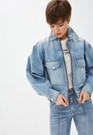 Куртка джинсовая The Kooples. Цвет: голубой