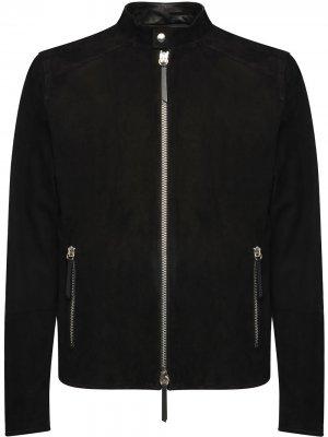Куртка на молнии Giuseppe Zanotti. Цвет: черный