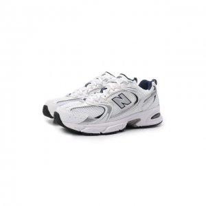 Текстильные кроссовки 530 New Balance. Цвет: белый