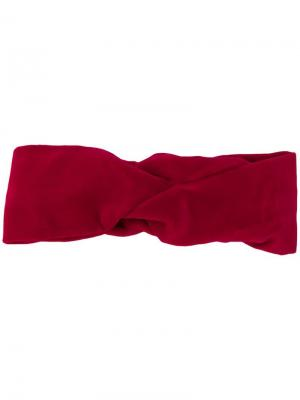 Повязка на голову с узлом Ca&Lou. Цвет: красный