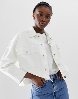 Белая джинсовая куртка -Кремовый Weekday