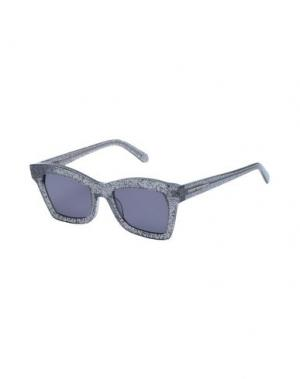 Солнечные очки KAREN WALKER. Цвет: черный