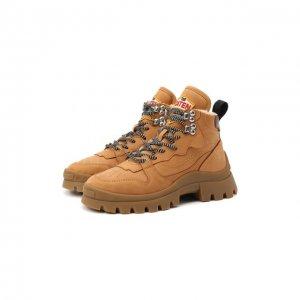 Замшевые ботинки Dsquared2. Цвет: бежевый
