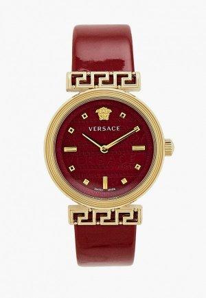 Часы Versace. Цвет: бордовый