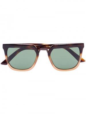Солнцезащитные очки James черепаховой расцветки Kirk Originals. Цвет: коричневый