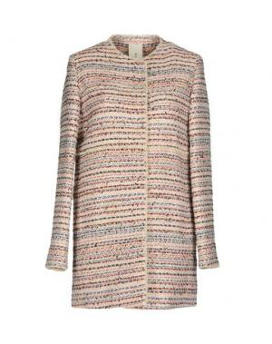 Легкое пальто MANUELA CONTI. Цвет: светло-розовый