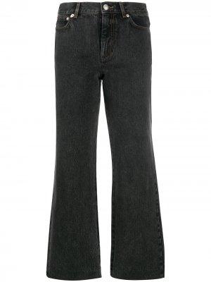 Укороченные расклешенные джинсы A.P.C.. Цвет: черный