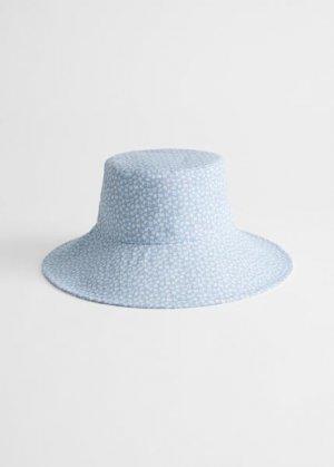 Хлопковая шляпа с принтом &Other Stories. Цвет: синий