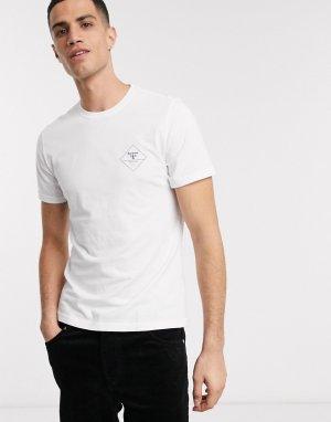 Белая футболка с логотипом -Белый Barbour Beacon