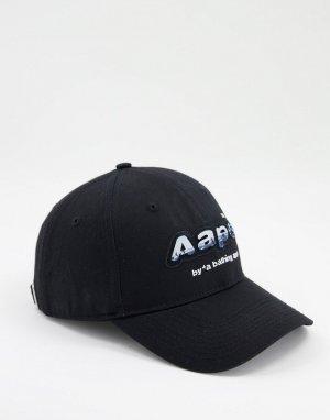 Черная бейсболка с логотипом AAPE By A Bathing Ape-Черный цвет APE®