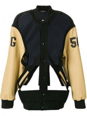 Куртка-бомбер с вырезом Maison Margiela. Цвет: чёрный