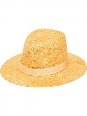 Шляпа Blaine Eugenia Kim. Цвет: желтый