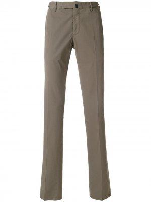 Прямые классические брюки Incotex. Цвет: серый