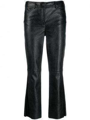 Укороченные брюки из искусственной кожи Aniye By. Цвет: черный