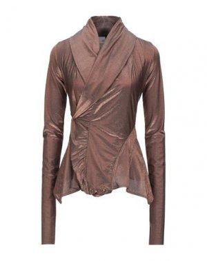 Пиджак RICK OWENS LILIES. Цвет: бронзовый