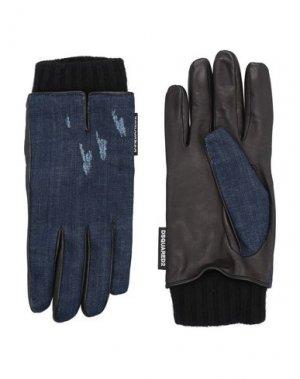 Перчатки DSQUARED2. Цвет: синий