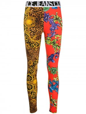 Легинсы с принтом Baroque Versace Jeans Couture