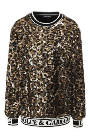 Пуловер Dolce & Gabbana. Цвет: золотой