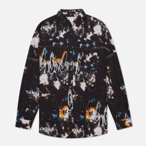 Мужская рубашка x Futura Print A Comme des Garcons SHIRT. Цвет: чёрный