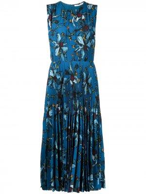 Платье с цветочным принтом Jason Wu Collection. Цвет: синий