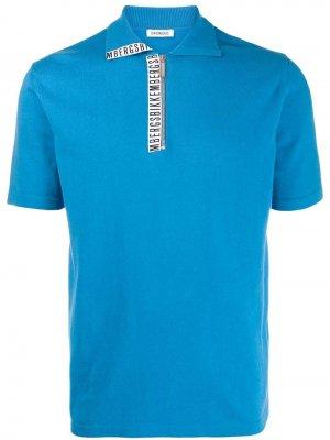 Рубашка-поло с логотипом Dirk Bikkembergs. Цвет: синий