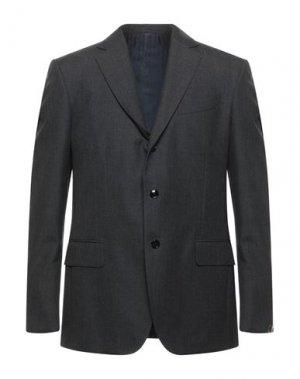 Пиджак MP MASSIMO PIOMBO. Цвет: стальной серый