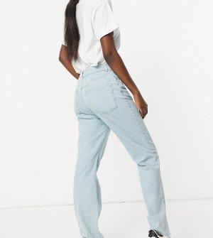Укороченные расклешенные джинсы из светлого выбеленного эластичного денима с завышенной талией ASOS DESIGN Tall-Голубой Tall