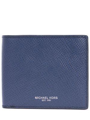 Кошелек кожаный MICHAEL KORS. Цвет: синий