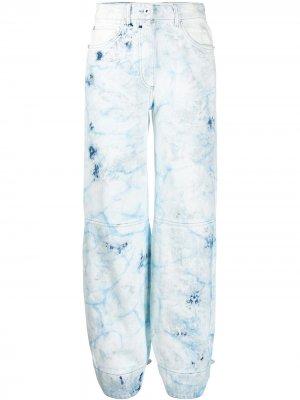 Выбеленные зауженные джинсы Off-White. Цвет: синий