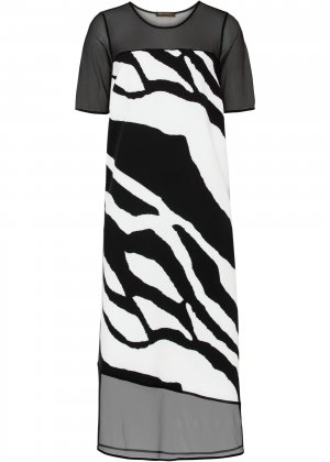 Платье миди bonprix. Цвет: черный