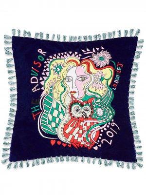 Подушка Athena La Doublej. Цвет: синий