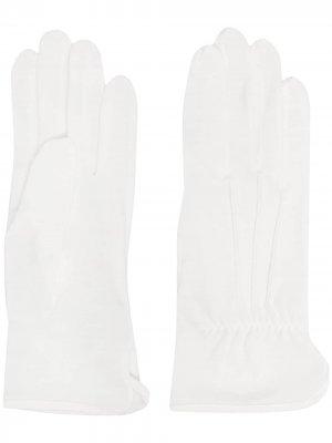 Перчатки тонкой вязки Yohji Yamamoto. Цвет: белый