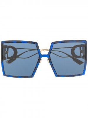 Солнцезащитные очки в массивной квадратной оправе Dior Eyewear. Цвет: синий