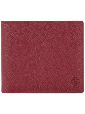 Складной кошелек Gieves & Hawkes. Цвет: красный