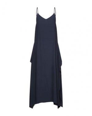 Длинное платье DUŠAN. Цвет: темно-синий