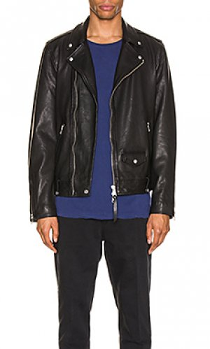 Кожаная куртка milo ALLSAINTS. Цвет: черный