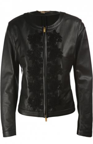 Куртка кожаная Blugirl. Цвет: черный