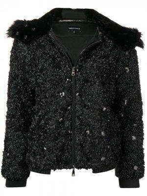 Textured jacket Emporio Armani. Цвет: черный