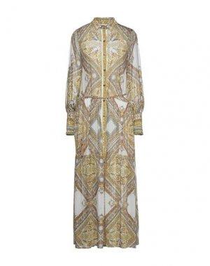 Длинное платье HALE BOB. Цвет: слоновая кость