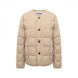 Пуховая куртка Jil Sander. Цвет: бежевый